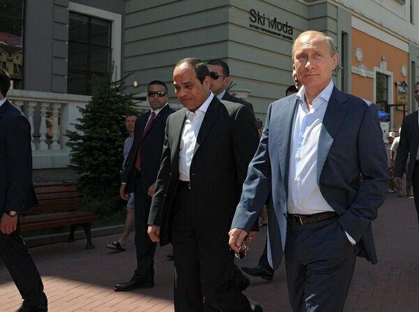 Президенты Египта и России