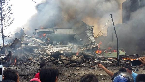 упал самолёт Индонезия
