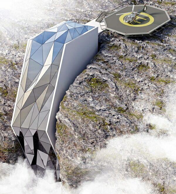 В Альпах появится необычный отель, «стекающий» с горы